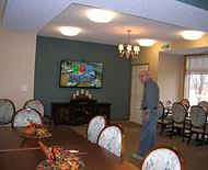 playing Wii bowling, active community, cornerstone cooperative, plymouth, minnesota, carefree, senior living
